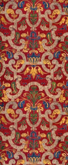 "coquidv: "" Mariano Fortuny y Madrazo, cotton printed textile, 20th century. Photo: Courtesy of Fortuny Inc. and the Riad Family. Mariano Fortuny y Madrazo, cotton printed textile, 20th century. Photo:..."