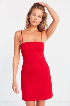 Silence + Noise Strappy Empire Waist Mini Dress