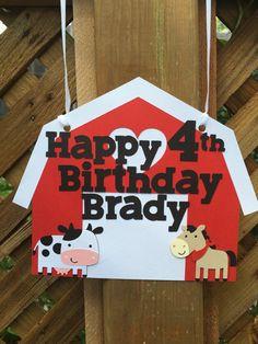 Farm Themed Birthday Sign Farm Sign Barnyard by EandABabyShop