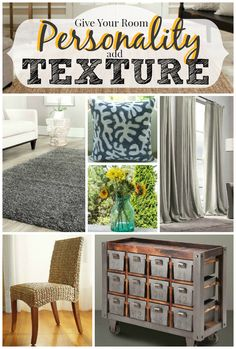 How to use texture to make a room beautiful and unique! @Remodelaholic.com #spon #texture #decor