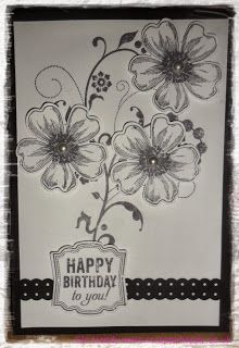 Stampin up Flower shop stamp & pansy punch www.scrappyhappy.co.uk