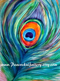 Peacock feather Art Print 11x14 by PeacocksGallery on Etsy