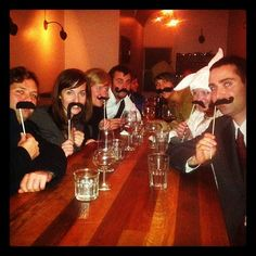 """@thequeenskickshaw's photo: """"Moustache party!!"""""""