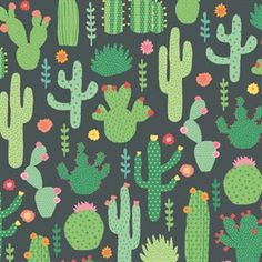 Colourful Cactus Wrapping Paper - 3 Sheets
