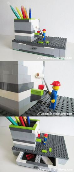 DIY Lego Pen Holder from A Typical English Home