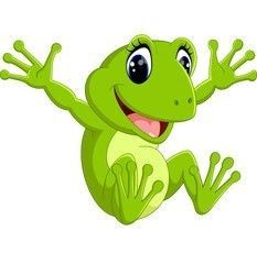 Cute frog cartoon vector image on VectorStock Funny Frogs, Cute Frogs, Cartoon Drawings, Animal Drawings, Clipart, Baby Animals, Cute Animals, Frog Drawing, Frog Pictures