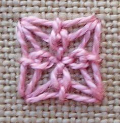Indian Edging and other stitches. Lots of original ways to modify and combine stitches.