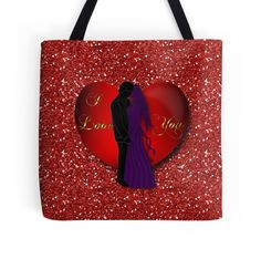 #RedHeartLovers #FauxGlitter #ToteBag by #MoonDreamsMusic #ValentinesDayStyle