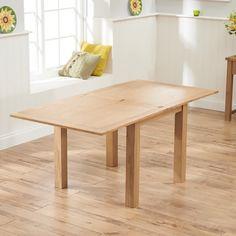 Sandringham 90cm Solid Oak Flip Top Table (Colours Cream/Oak/Dark Oak) -  - Dining Table - Mark Harris - Space & Shape - 12