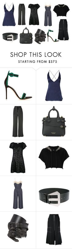 """""""Beautiful Classy Style"""" by donna-wang1 ❤ liked on Polyvore featuring Gianvito Rossi, Dion Lee, Zimmermann, Burberry, Yves Saint Laurent, Amen, Goen.J, Maison Margiela, E L L E R Y and vintage"""