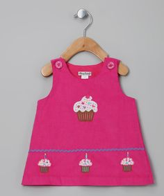 9c9bba6d676f0 Take a look at this Pink Cupcake Corduroy Jumper - Infant  amp  Toddler by  Classy · Holiday OutfitsCute GirlsLittle ...