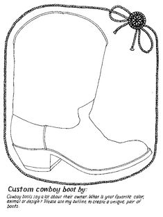Rodeo/Texas unit - Design your own cowboy boot! from janbrett.com.