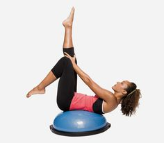 The Routine: BOSU-Ball Workout  Guess I should get mine out and give this a try