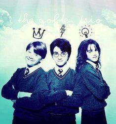 harry potter ron weasley and hermione granger ile ilgili görsel sonucu