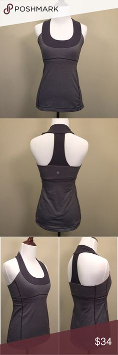EUC Lululemon Scoop Neck Tank Small Excellent used condition Lululemon Scoop Neck Racerback Tank. Size is not listed on the garment but it fits like a small. Built in bra gives you the support you need!                                                             Prices? My prices are firm. They are the lowest I can go. I do offer bundle sales throughout the year.   Trades and Holds? I'm sorry, I do not offer a trade option. I also do not offer holds. lululemon athletica Tops Tank Tops