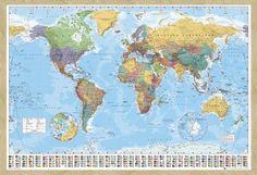 Mapa del mundo l mina en boda de tem tica - Cuadro mapamundi ikea ...