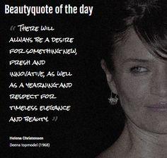 Beautyquote van Helena Christensen op www.makeupmymind.nl