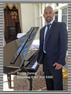 Bobby Sarwar Asian Pianist UK combination of Asian and Western music for parties, weddings and Bollywood corporate events UK, Europe.