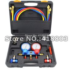High Quality R134A Manifold Gauge & Feron-Adding Gauge For R134A Cooling System Testing Tool