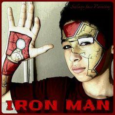 Iron Man face painting | superhero face paint | Pinterest | Man ...