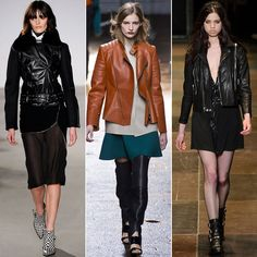 Motorcycle: Why we love it: The motorcycle jacket has been sending out the sexy-tough vibe ever since it landed on James Dean. It's not different in the 21st century, when ladies everywhere routinely count on one to add an edge to casual weekend outfits and ball gowns alike.