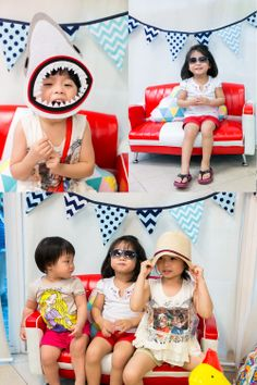 With a little creativity, you can transformed the mini sofa into a wonderful props for your photo booth!