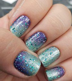Nail Polish Designs, Nail Polish Colors, Nail Polishes, Hot Nails, Hair And Nails, Garra, Rounded Acrylic Nails, Nail Color Combos, Strong Nails