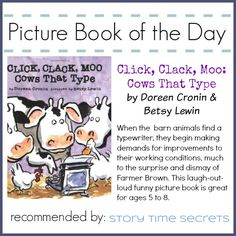 Picture Book of the Day 11/18/14: Click, Clack, Moo: Cows that Type