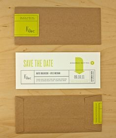 Save The Date - 10 Size + Kraft + Neon