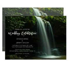 #customize - #Mountain Country Waterfall Wedding Invitation