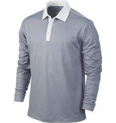 Nike Golf Men's Heathered Long Sleeve Polo