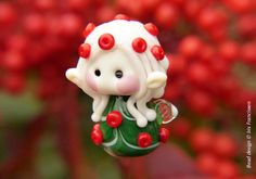 Cute little Christmas Fairy glass bead by Glaskralen on Etsy https://www.etsy.com/uk/listing/494672687/cute-little-christmas-fairy-glass-bead