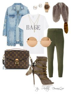 """""""By AD"""" by ashleydomenique on Polyvore featuring Dsquared2, Yeezy by Kanye West, LE3NO, River Island, LOFT, Louis Vuitton, Kate Spade and Victoria Beckham"""