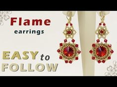 (15) How to make beautiful earrings using 14 mm rivolis and bicones - YouTube