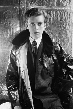 "Stephen Tennant by Cecil Beaton. He was an important member of the ""Bright Young People."" His friends included Lady Diana Manners and the Mitford girls. He is the model for Cedric Hampton in Nancy Mitford's Love in a Cold Climate; one of the inspirations for Lord Sebastian Flyte in Evelyn Waugh's Brideshead Revisited, and a model for Hon. Miles Malpractice in some of his other novels. His brother, Edward Tennant, was killed during the WWI in 1916. Their parents were the member of The Souls."