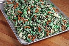 "Patrick's Day, or ""green snack day"" at school! 2nd Birthday Parties, Birthday Ideas, Swamp Party, Alligator Party, Reptile Party, Party Mix, Green Party, Chex Mix, Seasonal Food"