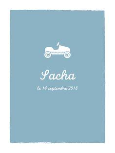 Affiche Petite voiture by Tomoë pour www.fairepartnaissance.fr #rosemood #atelierrosemood #poster #deco #kids #enfants #bedroom #chambre