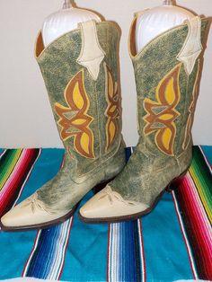 NINE WEST Narda Bomber Cutout LEATHER WOMEN'S Cowboy Western BOOTS size 7.5 M