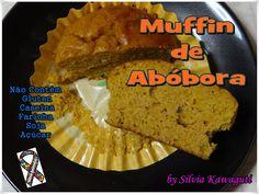 Não Contém Gluten: Muffin de Abóbora Não Contém Gluten, Lactose/Caseína, Açúcar, Soja e Farinha