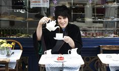 Noel Fielding at Maison Bertaux, Soho, London