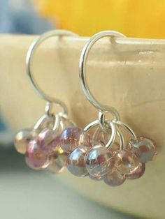 Berry Berry Earring Kit Transparent Smoky Amethyst