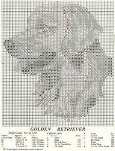 Cross stitch golden retriever