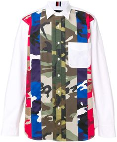 Tommy Hilfiger contrast camo shirt