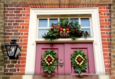 Williamsburg Christmas Decorations   Living In Williamsburg, Virginia: Christmas Decor At The Palmer House ...