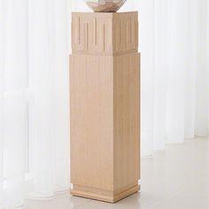 French Key Pedestal-Light Limed Finish