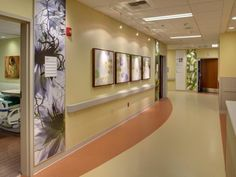 The facility gets a burst of color through its extensive #artwork and graphics program that extends from the lobby through to the staff corridors. Photo: Stephen Cridland, Courtesy of #KaiserPermanente.