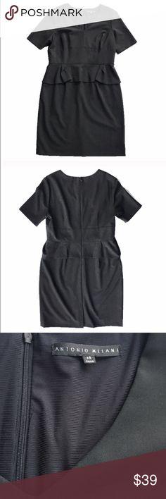 2a44b8ace7a Antonio Melani black peplum dress Elegant LBD from Antonio Melani