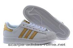 competitive price 9ce6e 4a561 Adidas Superstar 2 - Bling Bianche Metallico Oro Nere Scarpe Uomo Donna  V24626 (Adidas Nuove)