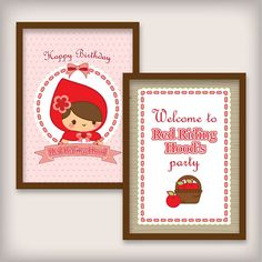 Dulce Little Red Riding Hood Essentials por shopPaperholic en Etsy
