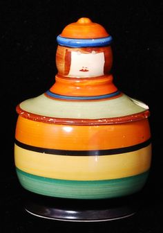 A rare Dutch Honey pot by Clarice Cliff